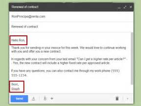How To Write A Business Email Template by 2 Easy Ways To Write Business Emails Wikihow