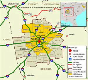 Atlanta Area Map by Geography Of The Atlanta Metropolitan Area