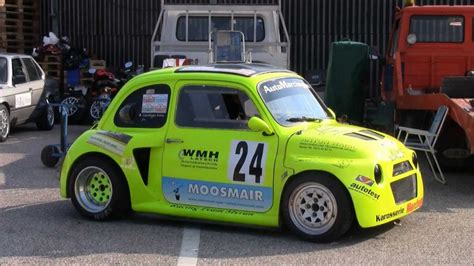 fiat 500 race car autoslalom kaltern 2012 fiat 500 race car kawasaki zx12r