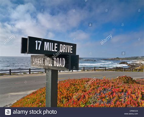 Sign for 17 mile drive a fabulous scenic route through