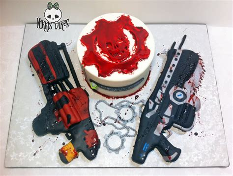 gears of war birthday cake from sweet dreams bakery tennessee gears of war cake take 2 by corpse queen on deviantart