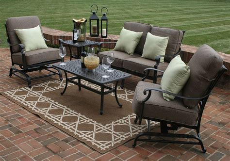 deck furniture sets herve 5 piece deep seating furniture set oal7144