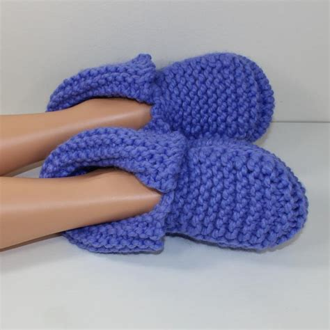 knitting pattern for socks in chunky wool adult super chunky slippers by madmonkeyknits craftsy