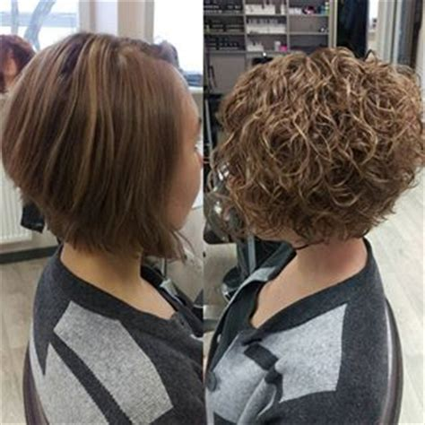 pictues of curly perms for inverted bobs before and after perm on inverted bob style hare wat ek