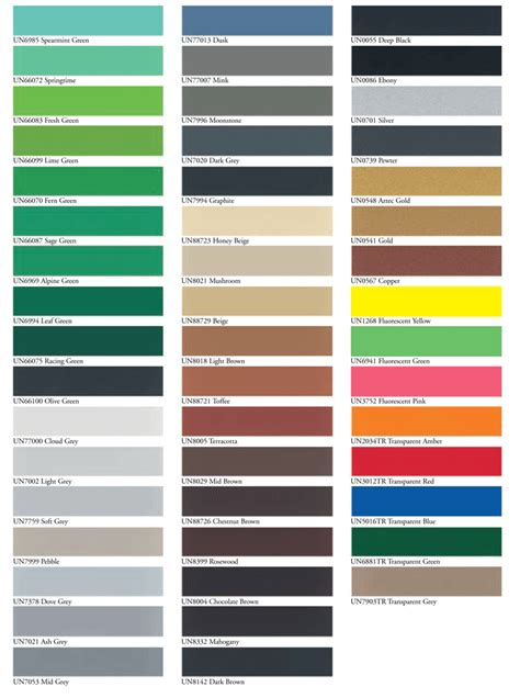 paint color chart with names brown hairs