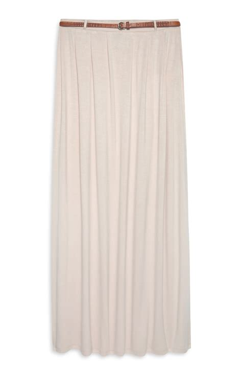 attractive primark belted jersey maxi skirt