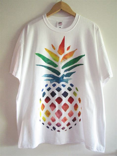 patterns for t shirt painting hand painted t shirt with rainbow pineapple design