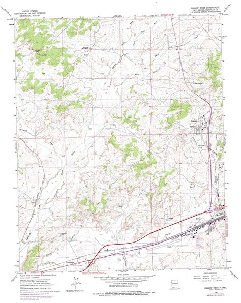 map of gallup new mexico gallup west topographic map nm usgs topo 35108e7