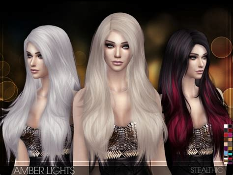 stealthic vapor female hair the sims resource the sims resource stealthic amber lights sims 4 downloads