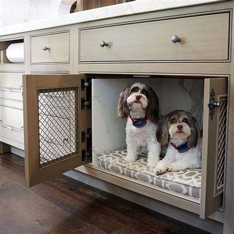 best place to put dog crate in house instagram kitchen ideas pinterest