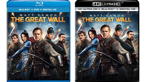 movies this weekend the great wall 2016 the great wall to release on blu ray 4k digital hd hd report