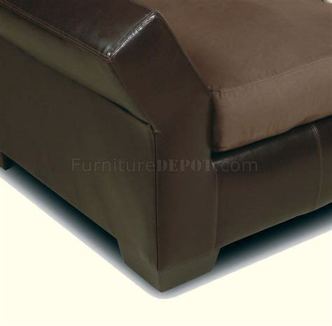 vinyl leather mocha micro suede sectional