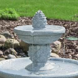 Water Fountain For Patio by Water Fountain Continuous Solar 2 Pineapple Tiered Outdoor