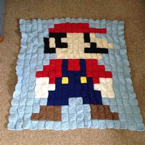 yoshi decke mario pixel crochet blanket by h 228 keln