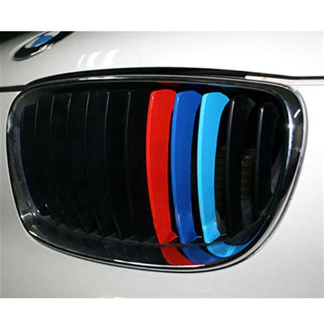 Sport Set Ready 5 Colour aliexpress buy 3pcs set 3 colors m sports stickers car front grill stripes decals for bmw