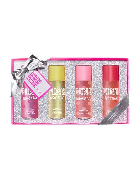 body mist gift set pink victoria s secret woo hoo