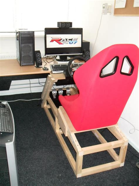 racing simulator chair plans picture of your racing setup simhq forums