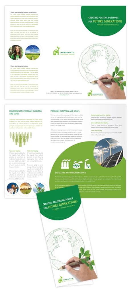 brochure template environmental environmental protection tri fold brochure template