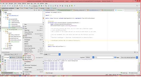 android studio debugging tutorial android intro