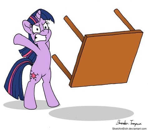 Table Flip by 285581 Artist Sketchinetch Bipedal Reaction Image Safe Simple Background Table