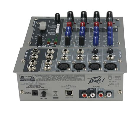 Mixer Peavey peavey pv6usb 4 channel mixer with phantom power ebay