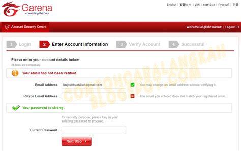 cara membuat id pb spanyol cara buat akun pb garena indonesia plus verifikasi akun pb