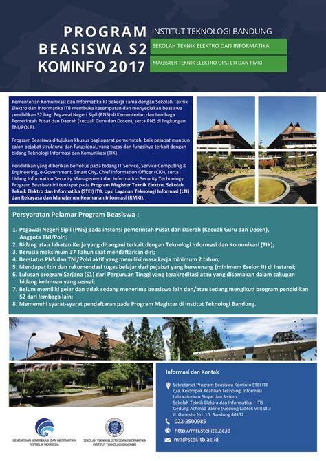 Ac Tahun penawaran beasiswa kominfo tahun 2017 pada program