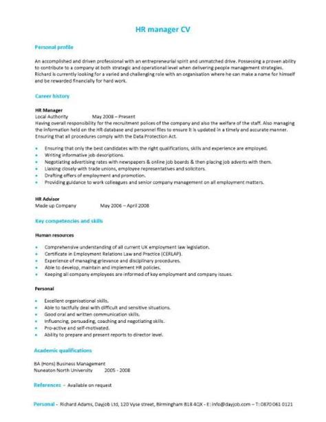 cv structure cv template exles writing a cv curriculum vitae