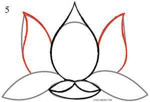 Lotus Flower Drawing Step By Step How To Draw Lotus Flower Step By Step Pictures Cool2bkids
