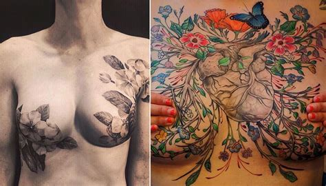 mastectomy tattoos breast cancer survivors show the stunning mastectomy
