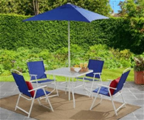 100 Foldable Patio Table Mainstays Round Outdoor Glass Top Mainstays Searcy 6 Padded Folding Patio Dining Set