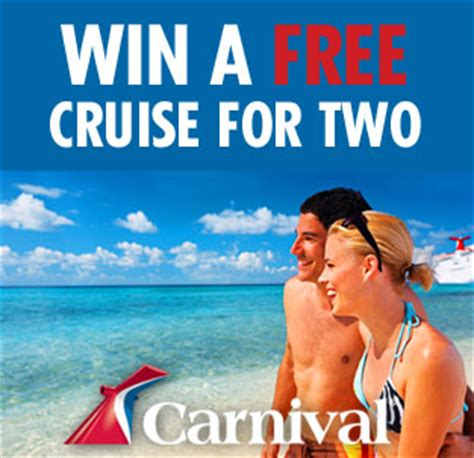 Carnival Cruise Sweepstakes - the cruise web is giving away a 7 night cruise for two