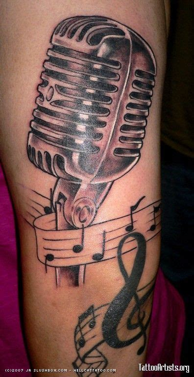 vintage microphone tattoo designs retro microphone inspiration tattoos tattoos