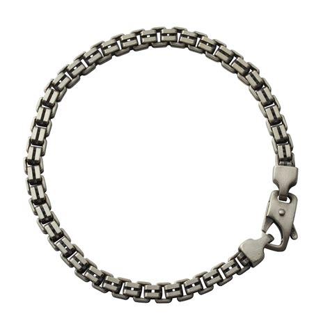 s sterling silver oxidised split box bracelet 4 80mm