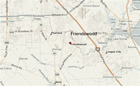 map of friendswood texas friendswood location guide