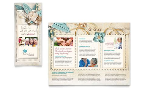 flyer template free publisher hospice home care tri fold brochure template design