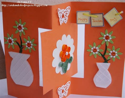 card craft ideas cards crafts projects teachers day card recycled