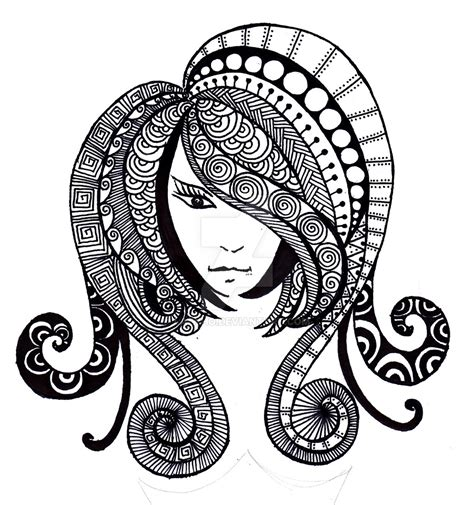 hair pattern drawing hair doodle by la who on deviantart