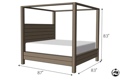 canopy bed plans canopy bed king size 187 rogue engineer