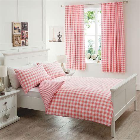 George Home Peachy Gingham Duvet Set Single Bedding Cot Bedding Sets Asda