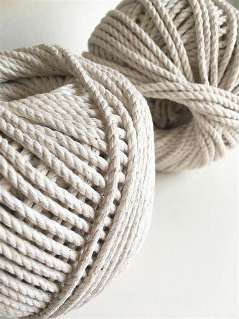 Macrame Rope - 4mm cotton macrame cord 3 ply macrame rope 3 strand craft