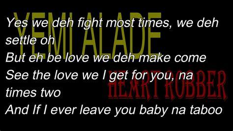 Maxy Luris yemi alade robber lyrics