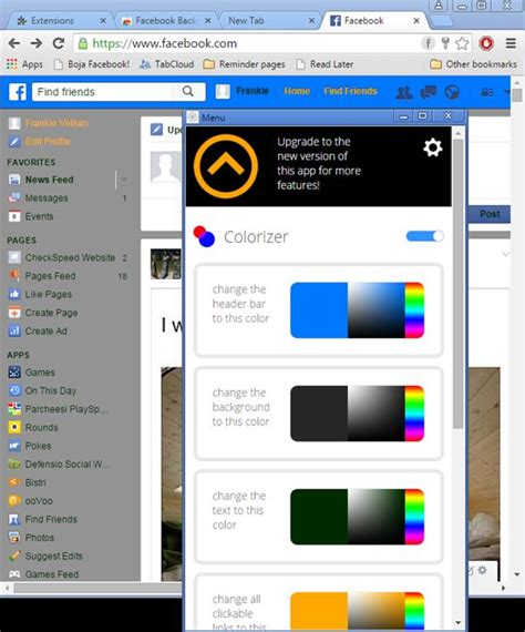 facebook themes download google chrome google chrome extensions facebook color changer hair weave