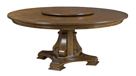 Dining Table With Lazy Susan Stellia 72 Quot Solid Wood Dining Table With Carved Wood Pedestal Base And Lazy Susan By