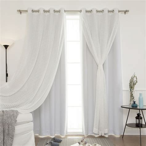 sheer and blackout curtains best home fashion best home fashion 4 piece checkered