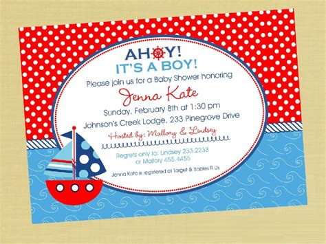 Cheap Baby Shower Invitations by Nautical Baby Shower Invitations Cheap