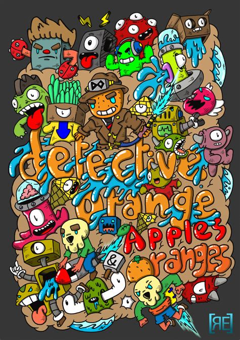 doodle orang doodle detective orange by redstar94 on deviantart