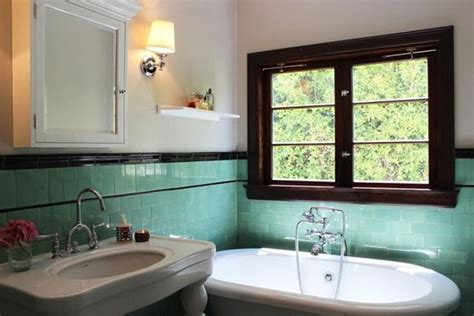 Vintage Bathroom Colors by 40 Retro Blue Bathroom Tile Ideas And Pictures