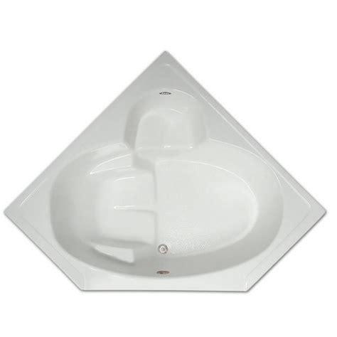 corner bathtub home depot 5 ft corner drop in non whirlpool bathtub in white lpi305
