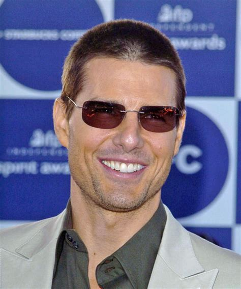 Tom Cruise Short Straight Casual Hairstyle   Light